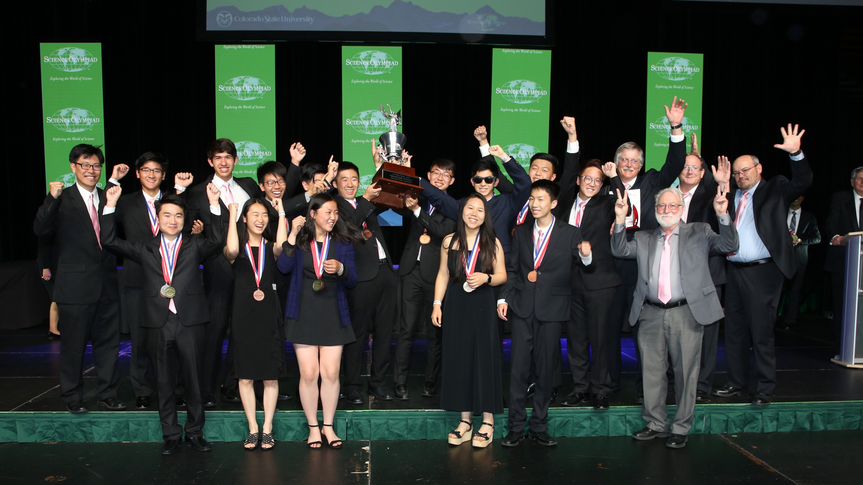 Troy High School wins the 2018 Science Olympiad National Tournament Division C title at Colorado State University