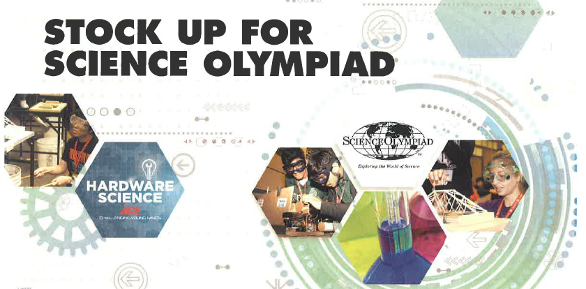 Get all your Science Olympiad hardware needs at your local ACE Hardware retailer!