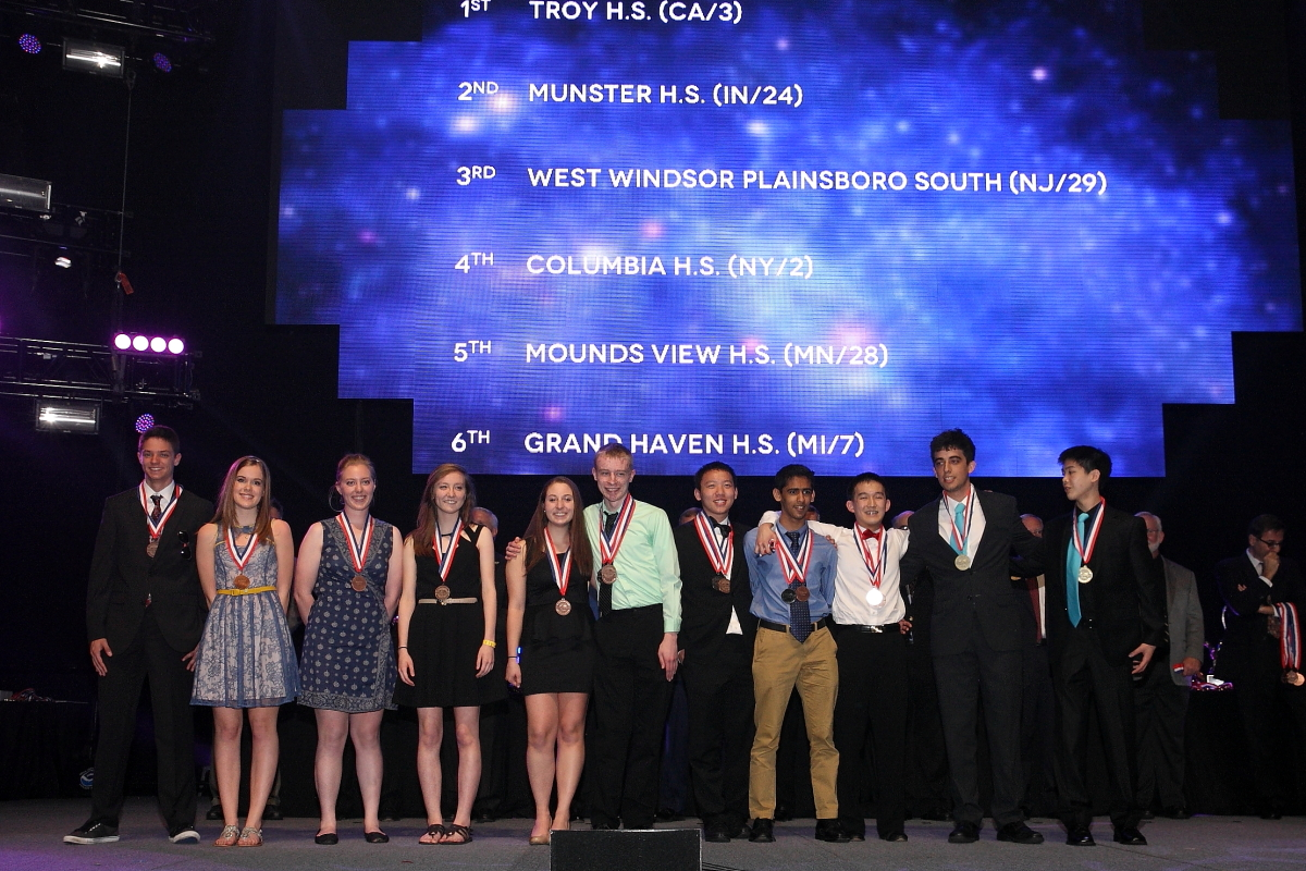 Winners of Dynamic Planet at the 2014 Science Olympiad National Tournament