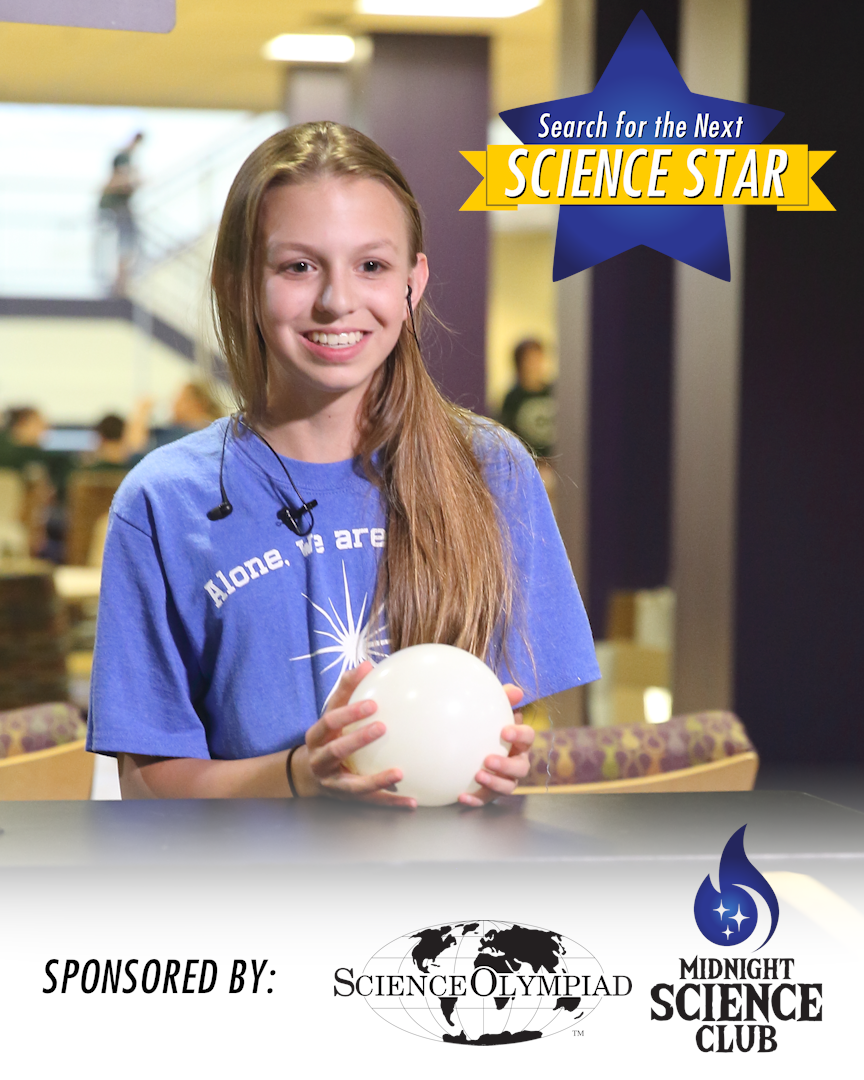 Winner of the 2016 Search for the Next Science Star Abby Rinaldi shows off her STEM skills!