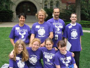 Coaches and students from Teeland Middle School in Alaska attend the 2005 Science Olympiad National Tournament at The University of Illinois at Urbana-Champaign.